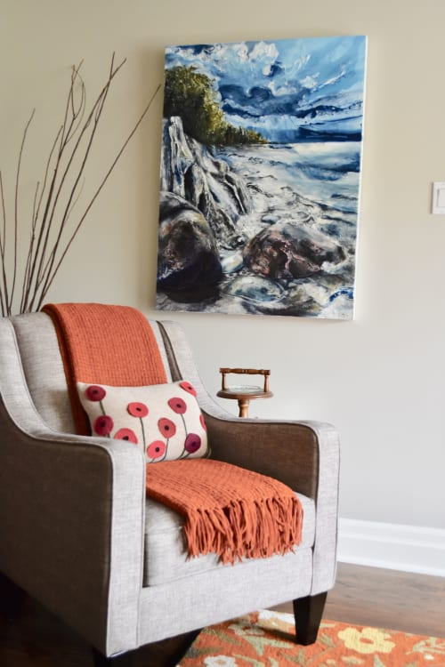 Paintings by Celina Melo seen at Private Residence, Rockwood - Rocks Before the Storm
