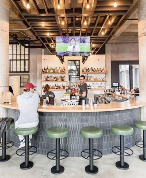 Interior Design by Steve Tiller seen at R15, Sacramento - R15 Bar Wood Bar Top