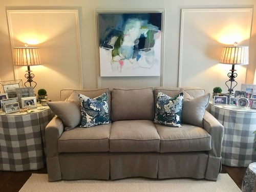 Paintings by Wendy McWilliams seen at Private Residence, Athens - Abstract Painting