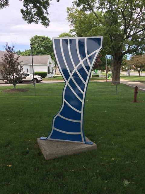 Public Sculptures by Mary Angers seen at Worcester, Worcester - Twisted Botanical Wave