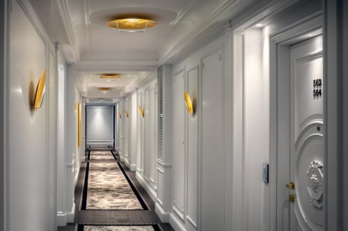 Sconces by Catellani & Smith at Hotel de Paris, Monaco - Custom Luna LED