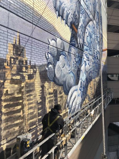 Street Murals by Altitude Murals seen at 985 Albion St, Denver - Breakable Bear
