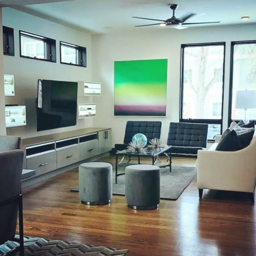 Paintings by Lindsy Halleckson seen at Private Residence, Roseville - Sugar Cubes
