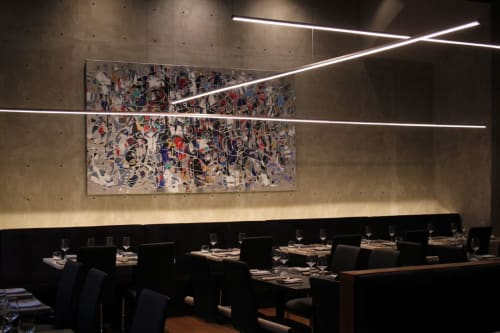 Paintings by Paul Ygartua seen at Bauhaus Restaurant, Vancouver - The Experience