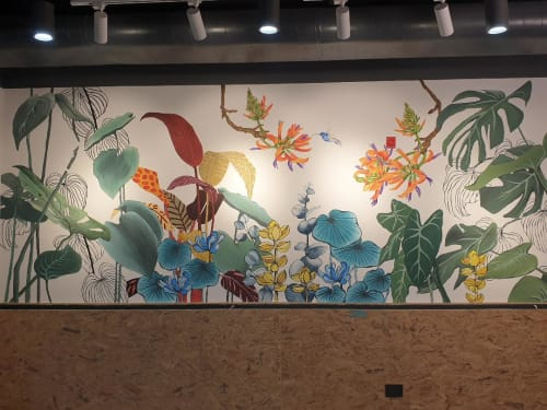 Murals by Yamini Reddy seen at Bengaluru, Bengaluru - Theme: Together |  Project: 2gethr | Size: 15ft wide x 9ft tall
