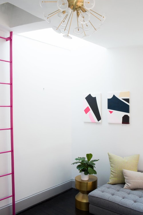 Paintings by Kristin Gaudio Endsley / Tin Tin's Pieces seen at BUREAU, Washington - Taken and Pink Pieces