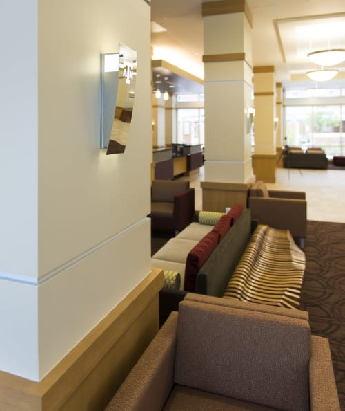 Sconces by ILEX Architectural Lighting seen at Texas A&M University, College Station - Custom LED Sconce