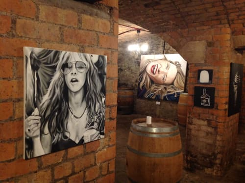 Paintings by Astrid Foreman seen at Philip Street, Bedminster - Stevie Nicks