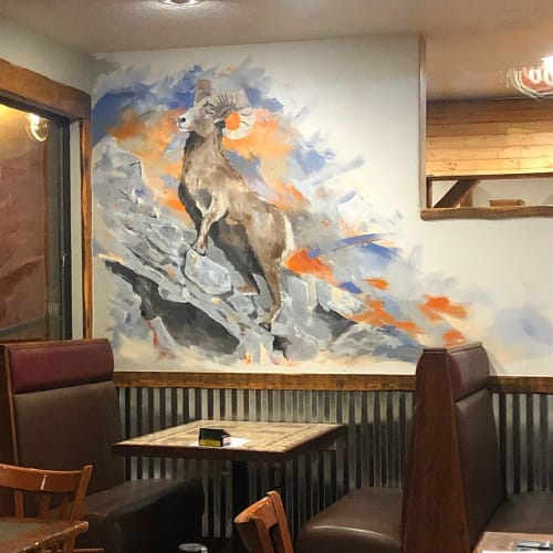 Murals by Josh Scheuerman seen at Gateway Grille, Kamas - Ram