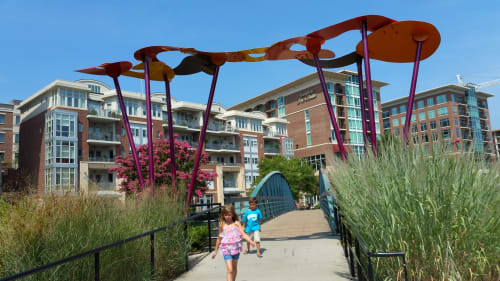 Public Sculptures by Abstract Metal Sculpture by Kishel seen at Greenville, Greenville - Paradigm Pathway