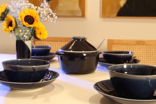 Tableware by Dirty Clay Dishes seen at Los Angeles, Los Angeles - Sapphire Pot
