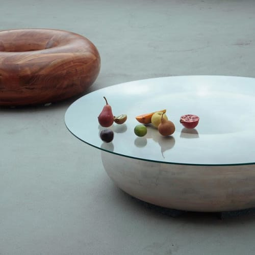 Tables by soft-geometry seen at Private Residence, San Jose - Donut Coffee Table Chocolate