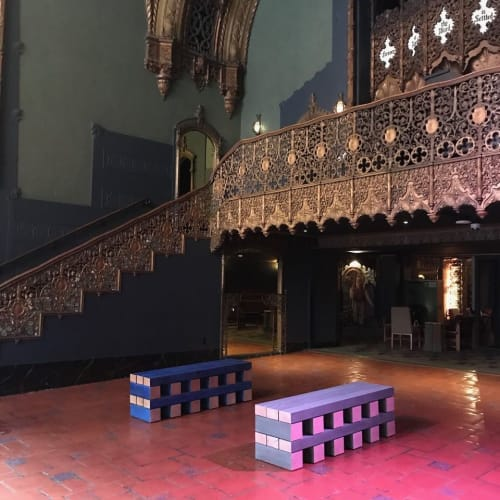 Benches & Ottomans by Bradley Duncan Studio seen at Indie Congress, Ace Hotel Theater DTLA 2019, Los Angeles - Stacked Bench