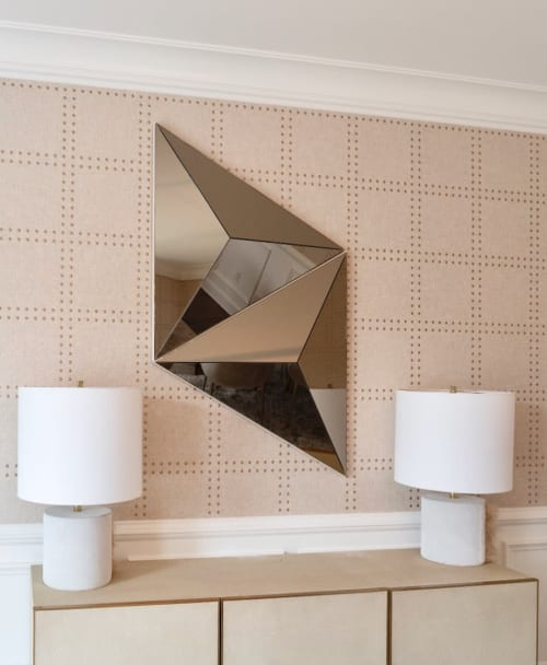Wall Hangings by Robert Sukrachand seen at Private Residence, Livingston - Volume Mirror Pair
