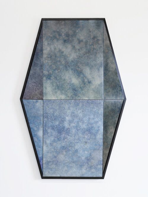 Wall Hangings by Robert Sukrachand seen at Private Residence, New York - Gem Mirror - Antique Cobalt Blue