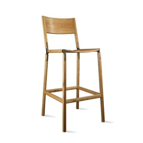 Chairs by Fyrn seen at The Slanted Door San Ramon, San Ramon - Mariposa Standard Chairs & Stanyan Bar Stools