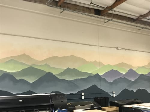 Murals by Anne Giancola seen at GeoJango, Pleasanton - Mountain Mural