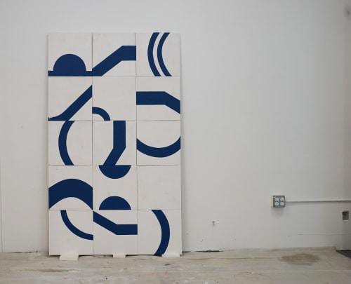 """Paintings by ANTLRE - Hannah Sitzer seen at Google Events Center, Redwood City - """"water"""""""