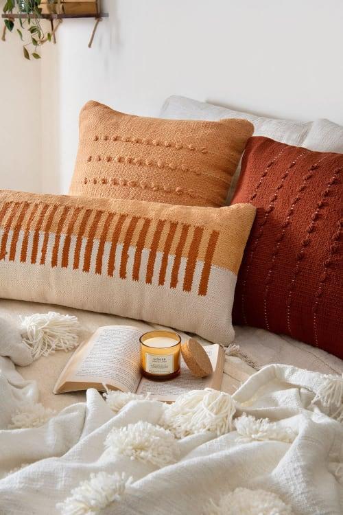 Pillows by Casa Amarosa seen at Creator's Studio - Terra Stripe Lumbar Pillow