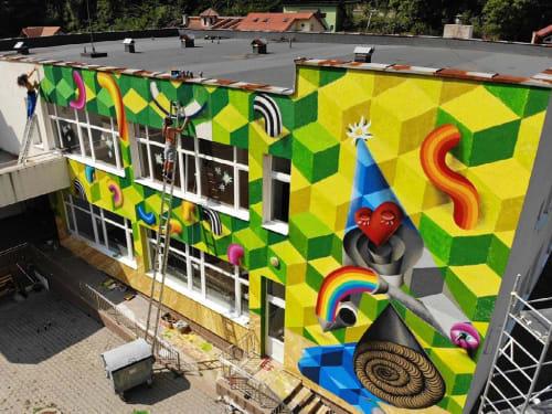 Street Murals by KERO ZEN seen at Băile Herculane, Băile Herculane - The Springs