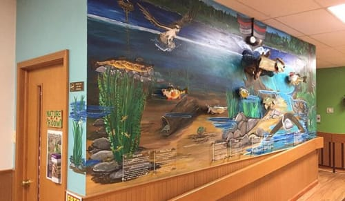Murals by Kristin S. Lorson seen at Pleasant Hill Lake Park Welcome Center, Perrysville - Pleasant Hill Lake Park Mural By, Kristin Lorson