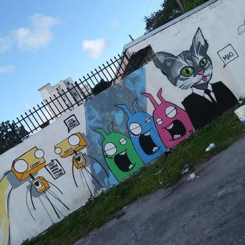 Street Murals by Aurailieus seen at Little Haiti, Miami - Puma Granite - Street Art