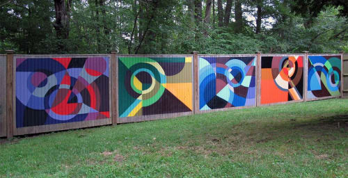 Murals by MATT W. MOORE seen at Private Residence, Boston - MWM Organic.
