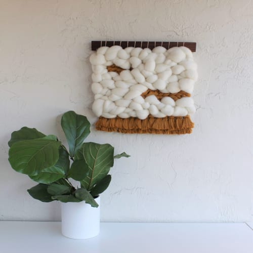 Wall Hangings by Keyaiira | leather + fiber seen at Private Residence, Colorado Springs - Mostarda