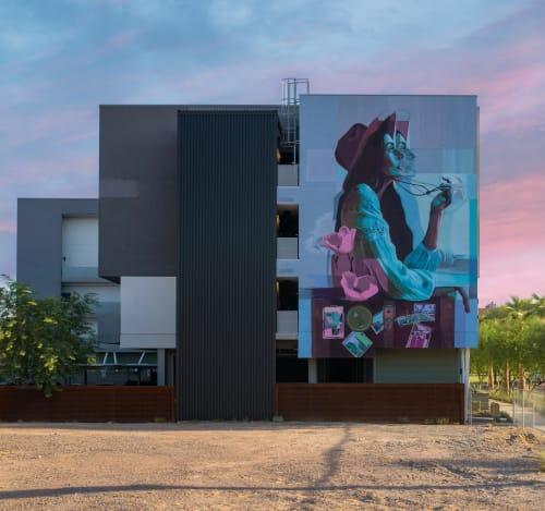Street Murals by Clyde seen at Phoenix, Phoenix - La Musa
