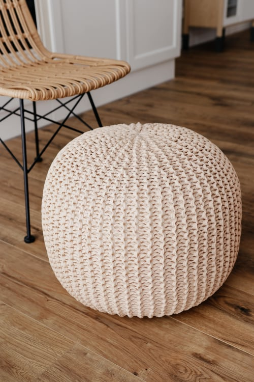 Benches & Ottomans by Chasha Home seen at Private Residence, Bergisch Gladbach - Pouf