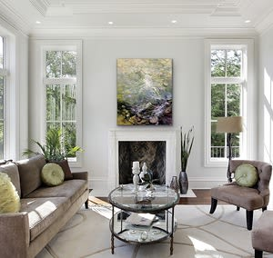 """Paintings by Cathy Boyd seen at Private Residence, Midland - """"Downstream"""" Original Oil Painting"""