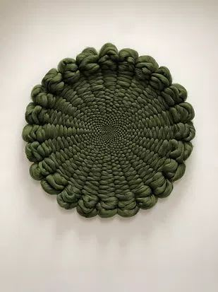 Willow Green Kloud fos (cloud wall) XXL   Wall Hangings by Elle Collins