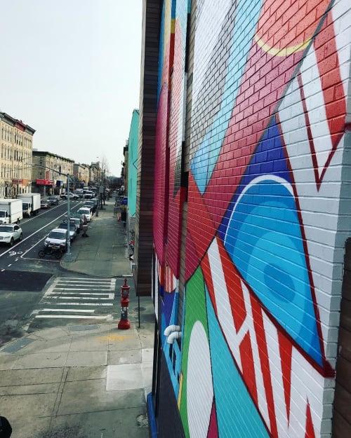 Murals by Eric Inkala seen at Brooklyn, Brooklyn - Common Living Mural