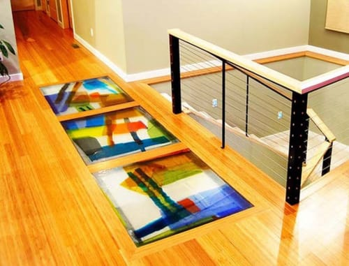 Art & Wall Decor by Walter Gordinier seen at Wendy J. Weissman, CPA, Great Falls - Cast Glass Floor