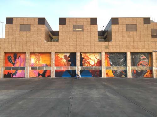 "Murals by Erik Burke seen at Las Vegas Fire & Rescue Headquarters, Las Vegas - ""Six Ways to Draw Attention"""