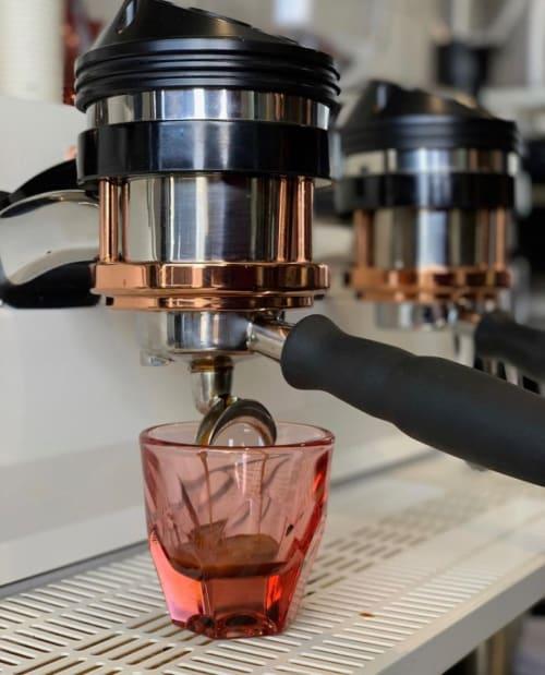 Cups by notNeutral seen at Bear Coast Coffee, San Clemente - VERO Cortado Glass, Rose