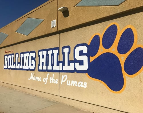 Murals by Mindful Murals seen at Rolling Hills Elementary School, San Diego - Mural