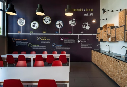 Interior Design by Studio Doppio seen at Astelav Srl, Garino - Astelav srl - Canteen and coffee area