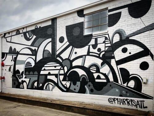 Street Murals by Phil Harris at The Met Atlanta, Atlanta - MET Mural