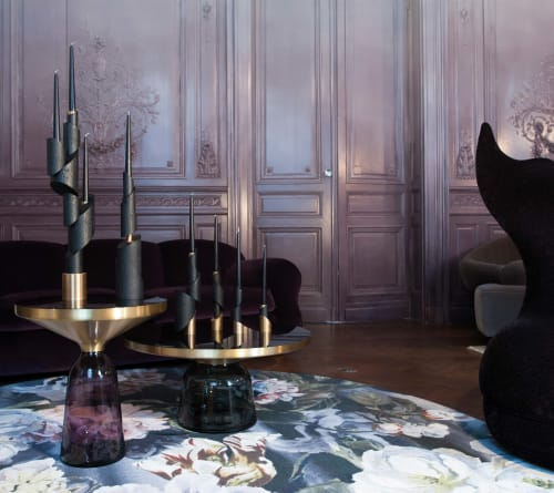 Apparel & Accessories by William Guillon seen at Château Guiraud, Sauternes - Ashes to Ashes Candlesticks
