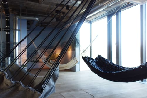 Furniture by BLESS seen at 25hours Hotel Bikini Berlin, Berlin - Hammocks