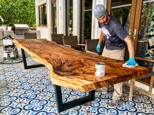 Outdoor Live Edge Table   Tables by Doro Designs