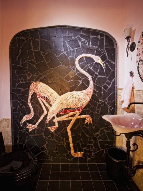 Murals by Pam Brewer seen at Private Residence, Newland - Bathroom Mural