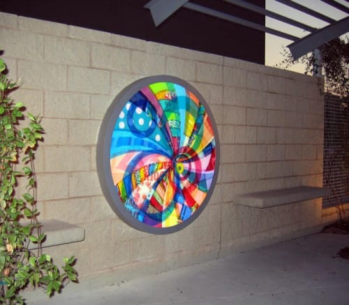 Public Art by Virginia Fleck seen at Whole Foods Market Global Support Offices, Austin - The Spin Cycle