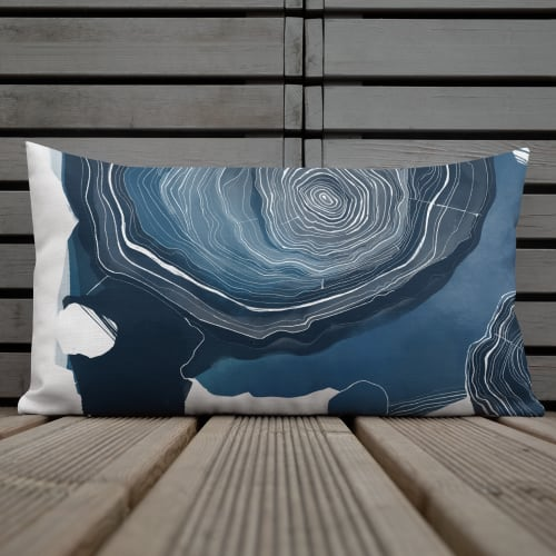 Pillows by Michael Grace & Co seen at Creator's Studio, Seattle - Old Growth Rectangular Throw Pillow