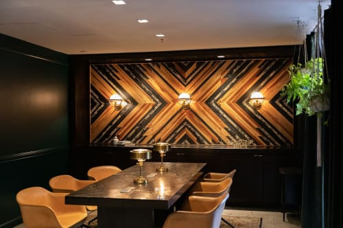 Wall Hangings by Aleksandra Zee seen at The Kimpton Buchanan, San Francisco - Wooden Wall Artwork