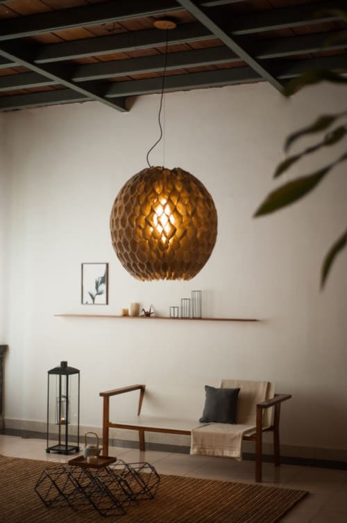 Bulat Pendant Lamp   Pendants by From the Source