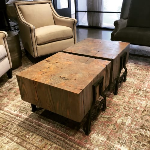 Tables by Old Fashioned Lumber seen at Private Residence, San Diego - Coffee Table Set