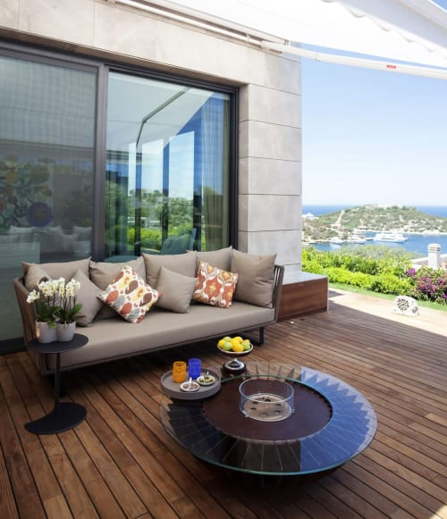 Fireplaces by GLAMMFIRE seen at Mandarin Oriental, Bodrum - Cosmo