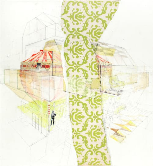Paintings by Alyssa Dennis seen at Private Residence, New York - Circus Tent
